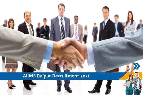 AIIMS Raipur Recruitment for the post of Consultant