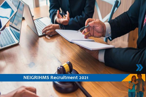 Recruitment of Consultant posts in NEIGRIHMS Shillong