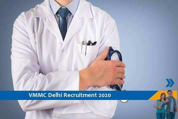 Govt of Delhi VMMC Recruitment for the posts of Junior Medical Officer