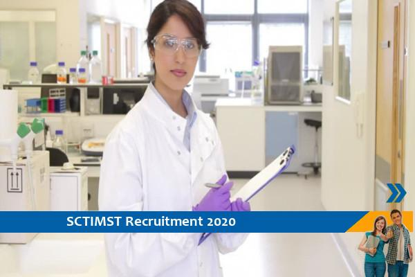 Recruitment to the post of Project Scientist in SCTIMST