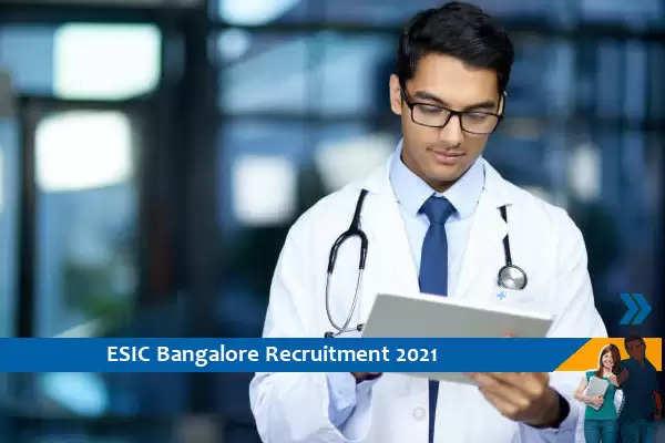 Recruitment to the post of Senior Resident in ESIC Bangalore