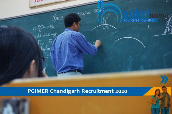 PGIMER Chandigarh Vacancy For The Post Of    Assistant Professor , Click here to Apply