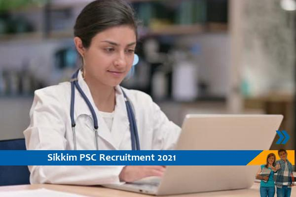 Recruitment in the post of Scientific Officer in Sikkim PSC