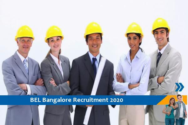 BEL Bangalore Recruitment for Project and Trainee Engineer Posts