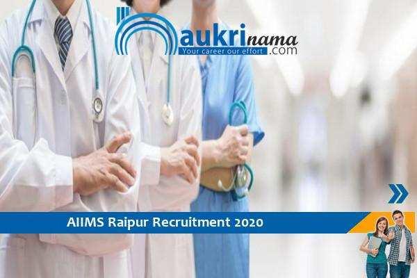 Recruitment for the post of Junior Resident in AIIMS Raipur