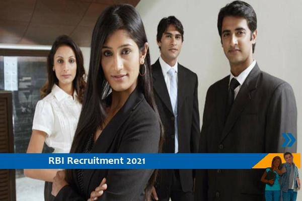 Recruitment to the post of officer in RBI