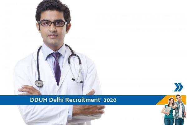 Govt of Delhi Recruitment for the posts of Junior Resident in DDUH