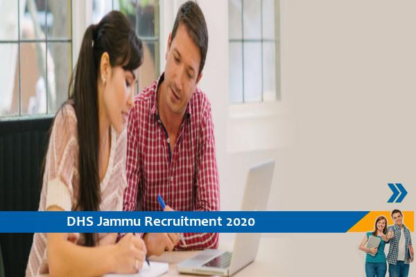 Recruitment to the post of Counselor and Psychologist in DHS Jammu