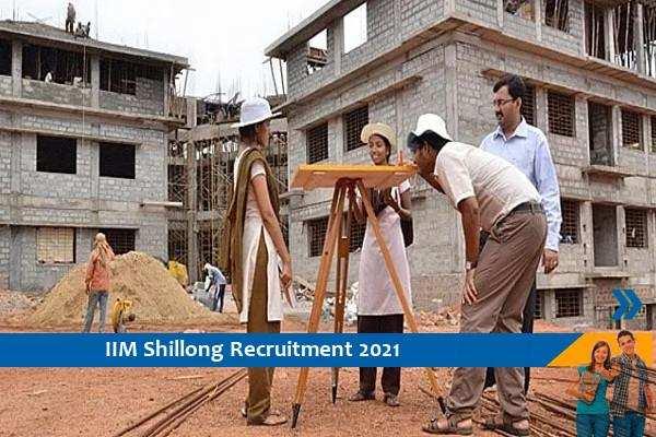 IIM Shillong Recruitment for Site Engineer Posts